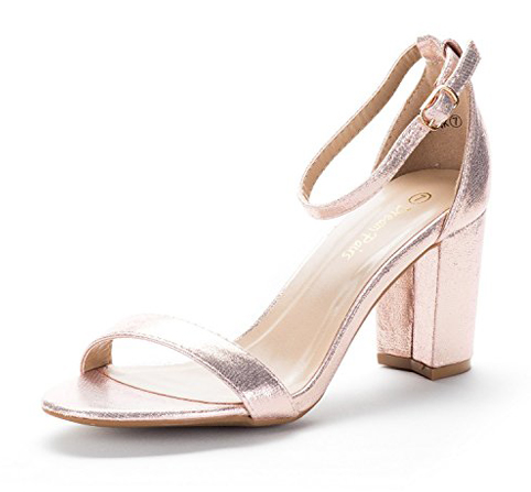8. DREAM PAIRS Chunk Low Heel Sandals