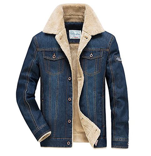 8. JYG Sherpa-Lined Denim Jacket