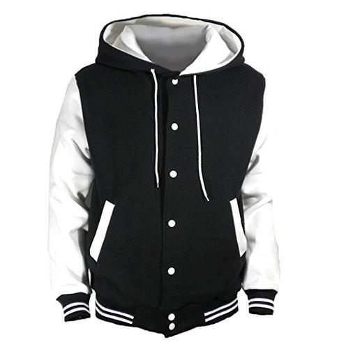 5. U World Hooded Baseball Varsity jacket