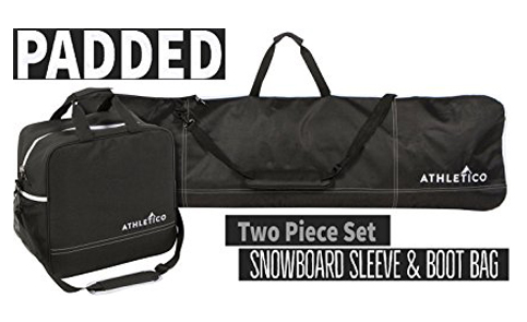 8. Athletico Padded 2-Piece Snowboard/Boot Bag Combo