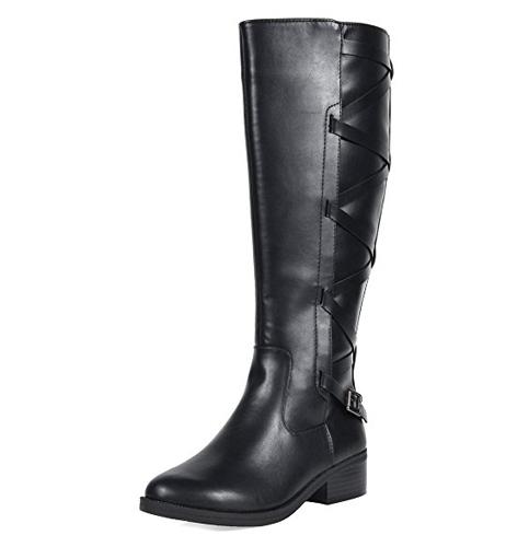 10. TOETOS Women's Knee High Winter Riding Boots