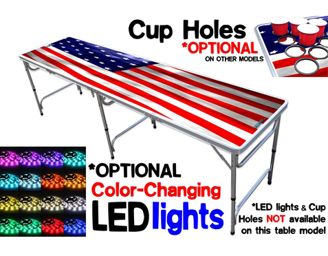 4. PartyPongTables 8-Foot Pong Table with Color-Changing LED