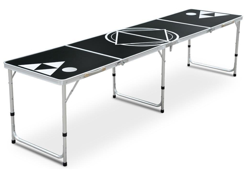 7. Yaheetech 8-Foot Beer Pong Table