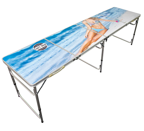 6. Can't Stop Party Supplies Beer Pong Table