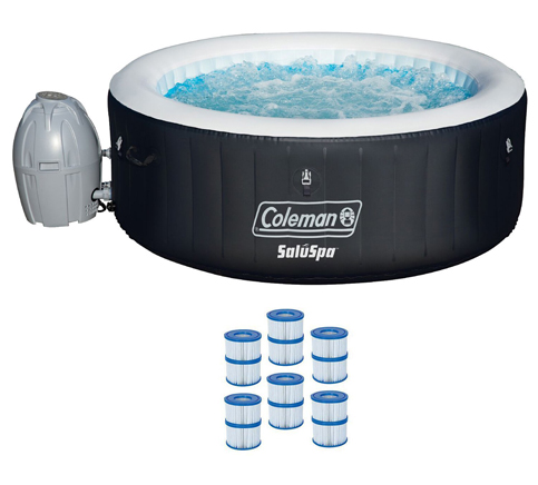 10. Coleman 71x26 4-Person Hot Tub