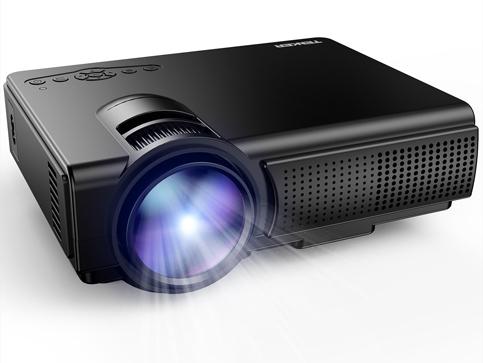 6. TENKER Q5 1,500 Lumens Mini Projector