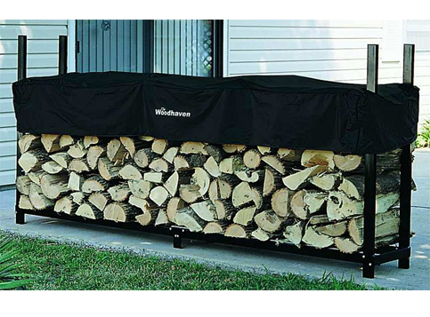 5. The Woodhaven 8-Foot Log Rack