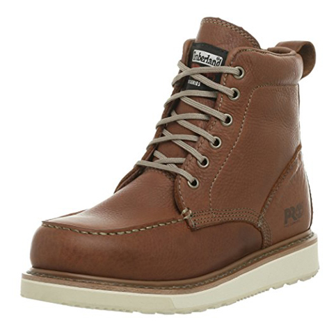 13. Timberland PRO Wedge 6-Inch Wedge Sole Boots
