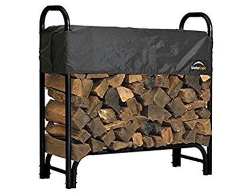 3. Shelter Logic 90403 12-Foot Outdoor Firewood Rack