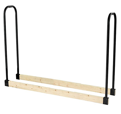 8. Pleasant Hearth Heavy Duty Outdoor Log Rack