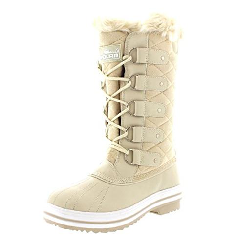 3. Polar Tall Nylon Winter Boots