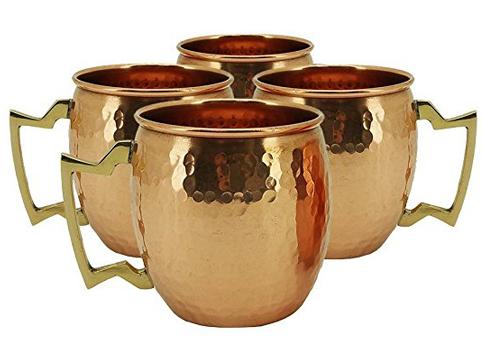 5. Olia Design 18oz RV Hammered Copper Moscow Mule Mug
