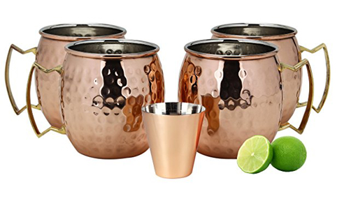 2. A29 Moscow Mule 100% Pure Copper Mug/Cup (Set of 4)