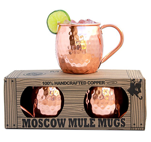 7. Morken Barware 16oz Moscow Mule Mugs (Set of 2)