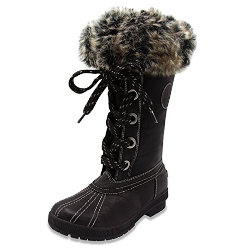 9. London Fog Melton Cold Weather Boots