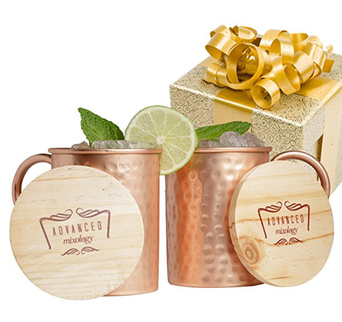 4. Advanced Mixology Moscow Mule Copper Mugs (Set of 2)