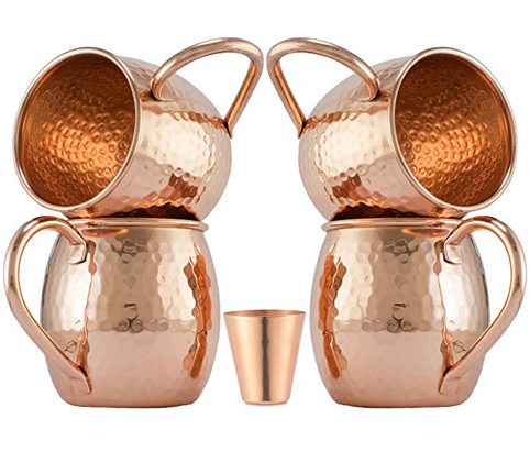 8. Moscow-Mix Moscow Mule Copper Mugs (Set of 4)