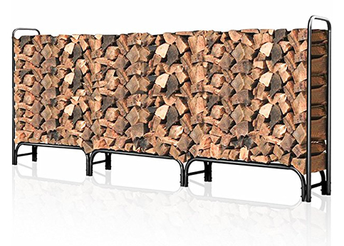 2. Amagabeli Outdoor Firewood Rack