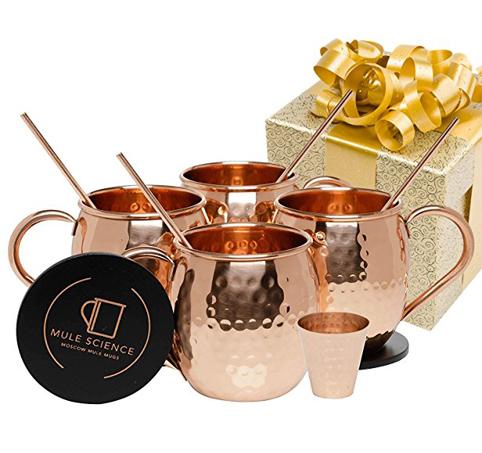 1. Advanced Mixology Moscow Mule Copper Mugs (Set of 4)