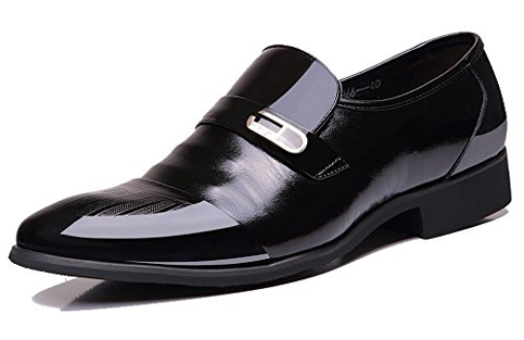 5. OUOUVALLEY Leather Tuxedo Dress Shoes