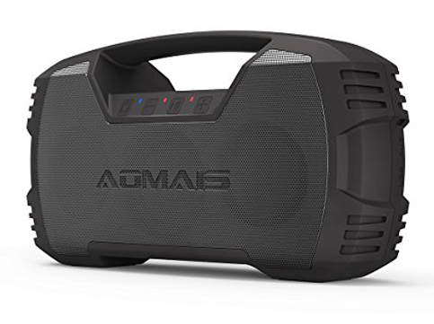 10. AOMAIS Black GO Bluetooth Speakers