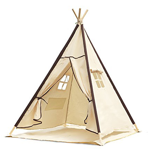 8. Lavievert Indian Canvas Kids Teepee Tent