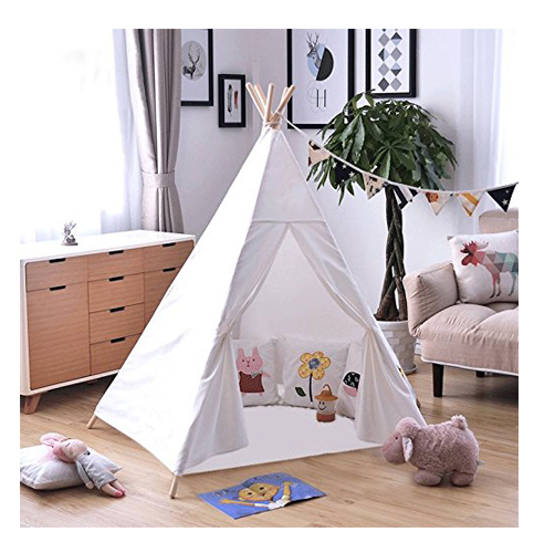 7. OUTREE Indoor Teepee Tent for Kids