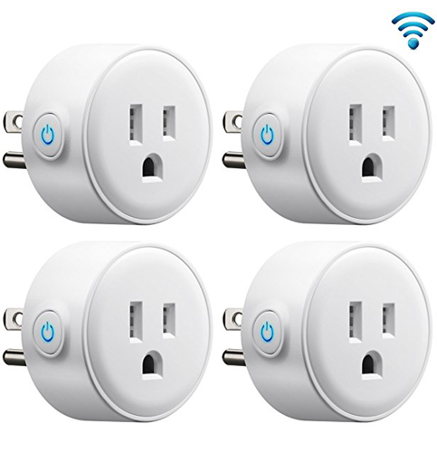 9. GMYLE 4-Pack Smart WiFi Plugs