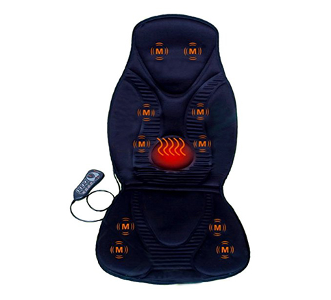 1. FIVE S Black FS8812 10-Motor Massage Seat Cushion