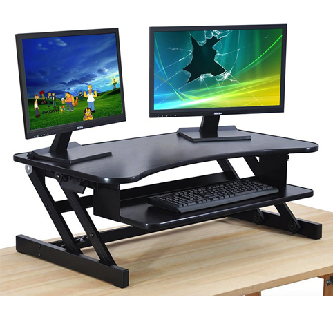3. The House of Trade Height-Adjustable Standing Desk