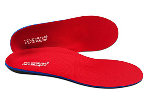 7. NAZAROO Insoles for Flat Feet