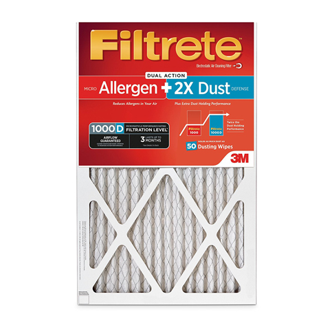 8. Filtrete MPR 1000D Micro Allergen and Dust HVAC Filter