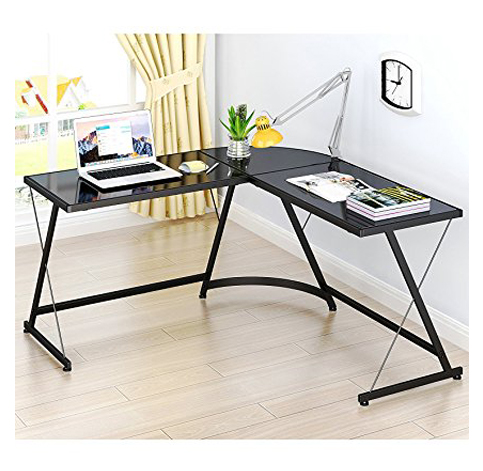 4. LeCrozz L-Shaped Corner Desk