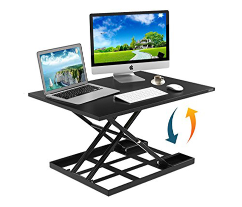 7. Defy Desk Height-Adjustable Standing Desk