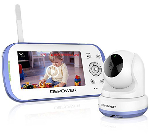 9. DBPOWER Sound Activated Digital Video Baby Monitor