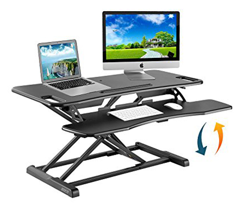 8. Defy Desk Height-Adjustable Standing Desk (with 37-inch gas spring)