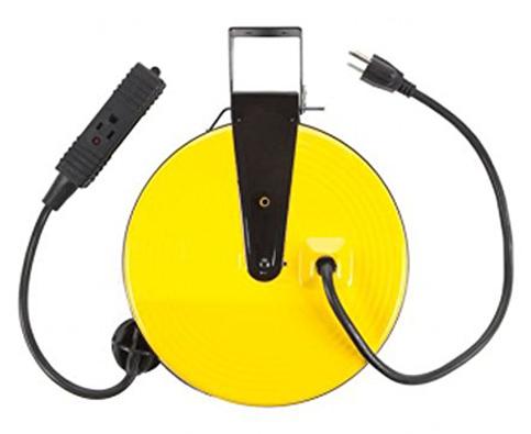 6. Bayco SL-800 30-Foot Retractable Metal Cord Reel