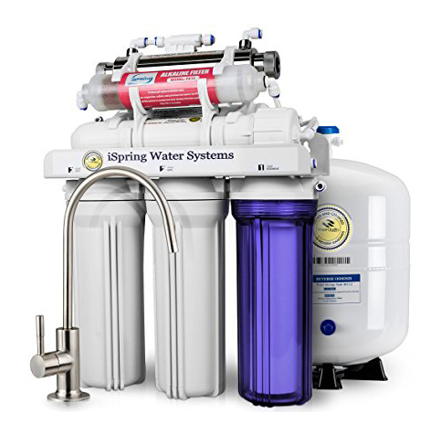 7. iSpring RCC7AK Deluxe 7-Stage Under Sink Filtration System