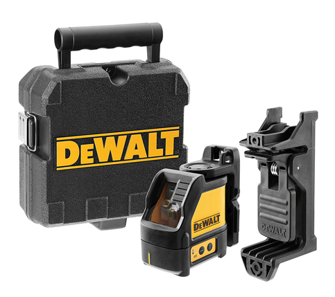 2. DEWALT DW088K Cross Line Laser (Self-Leveling)