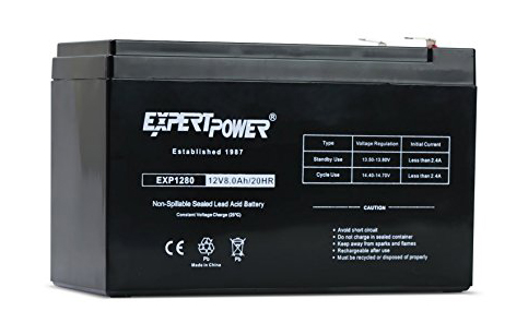 9. ExpertPower EX1280 12V 8 Amp Rechargeable Battery