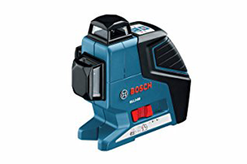 9. Bosch GLL 3-80360 Degree Three Plane Leveling Alignment Laser