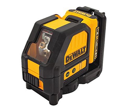 6. DEWALT DW088LG Green 12V Cross Line Laser