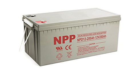 10. NPP 12V 200-Amp NPD12 Rechargeable Sealed Acid Battery
