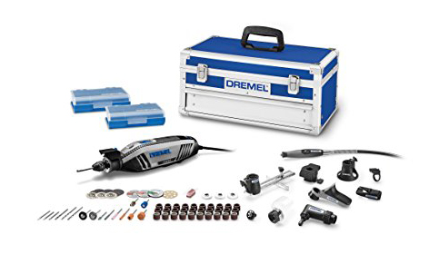 10. Dremel 4300-9/64 Universal 3-Jaw Chuck Rotary Tool Kit, 9 Attachments