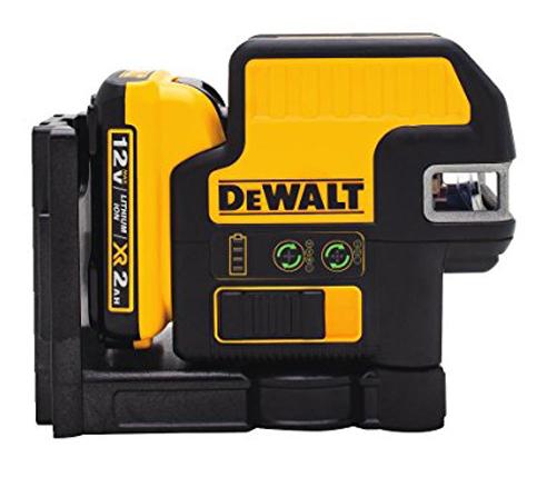 10. DEWALT DW0825LG Green 12V 5 Spot + Cross Line Laser