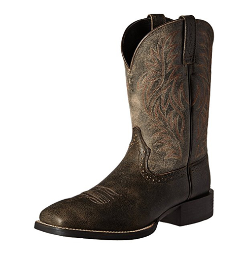 4. Ariat Men's Sports Wide Square Toe Western Cowboy Boot