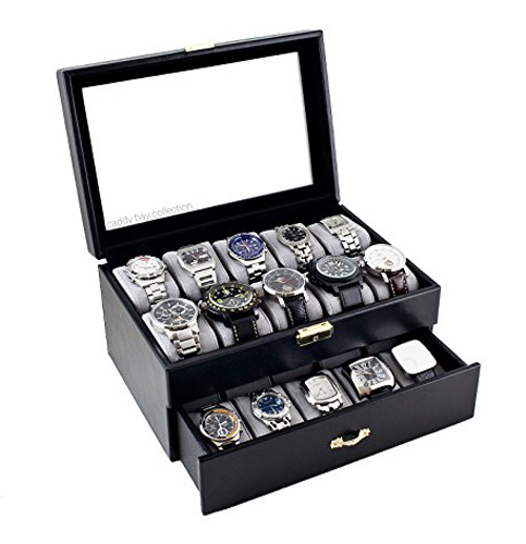 8. Classic caddy bay collection black watch case