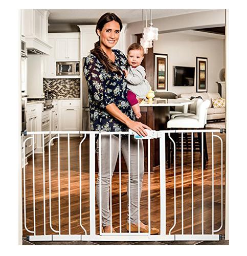 4. Regalo Extra WideSpan Walk Through Safety Gate