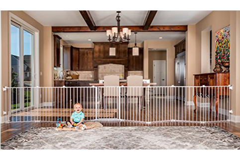 9. Regalo 192-Inch Super Wide Adjustable Gate and Play Yard