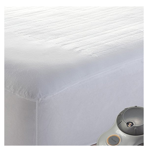 6. Sunbeam Heated Polyester Mattress Pad